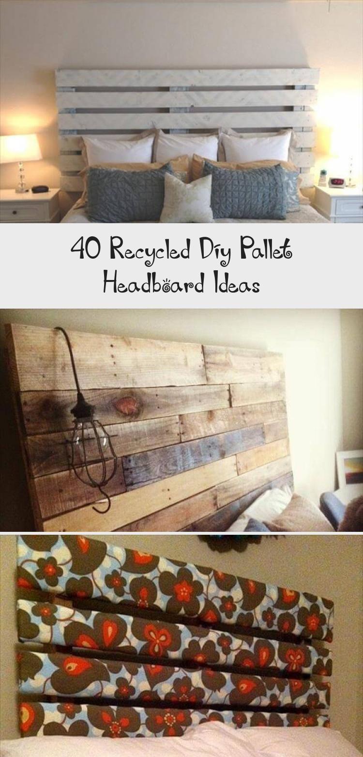 40 Recycled Diy Pallet Headboard Ideas #palletheadboards