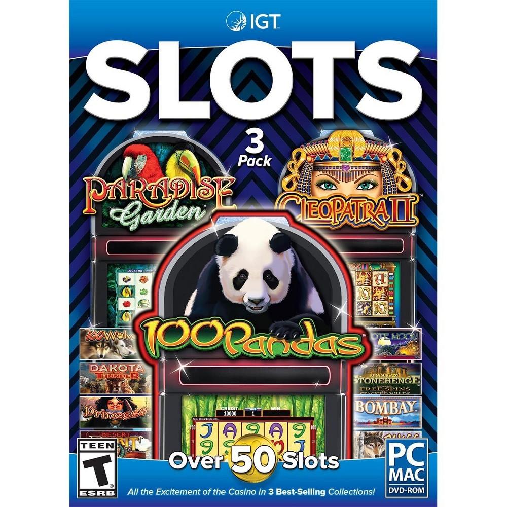 Igt Slots 3 Pack 100 Pandas, Cleopatra and Paradise