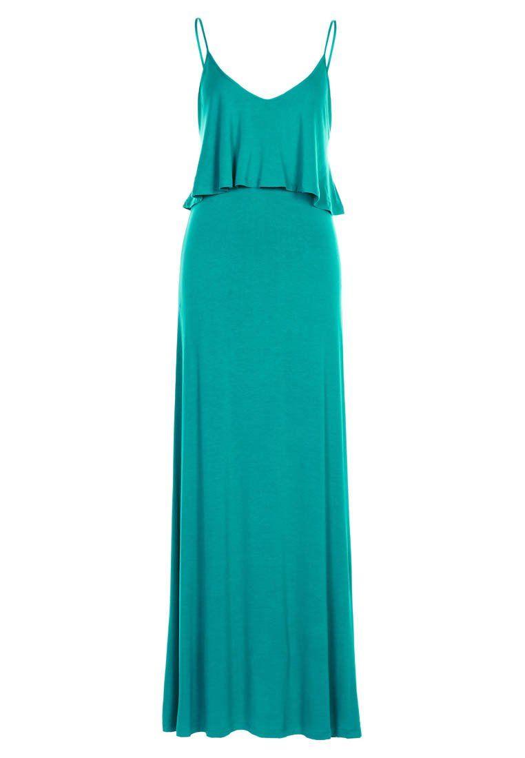Vestido verde jade largo