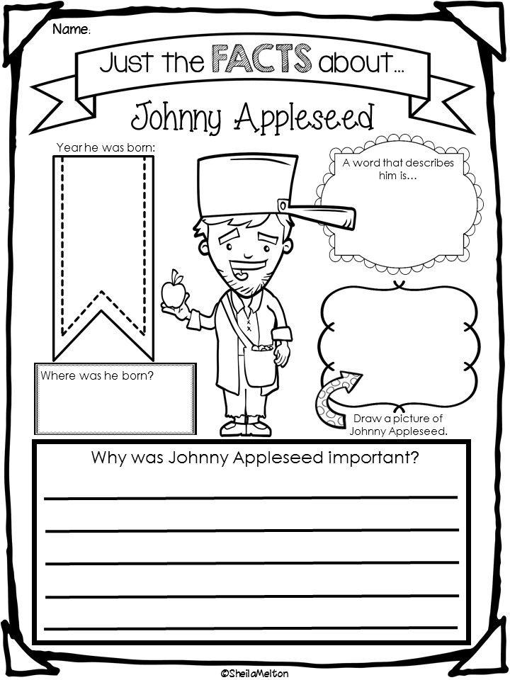 Johnny Appleseed Johnny Appleseed Activities Kindergarten Worksheets Johnny Appleseed
