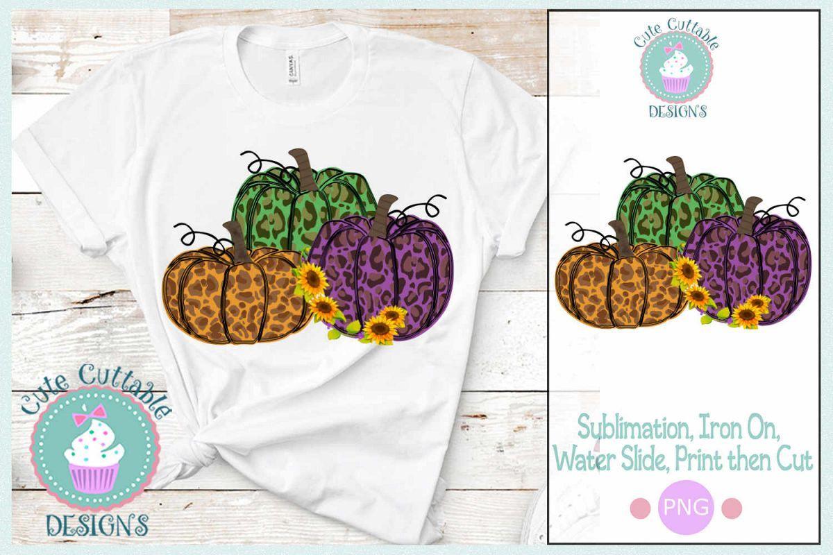 Sublimation Cheetah Pumpkin Design PNG Fall Leopard Print