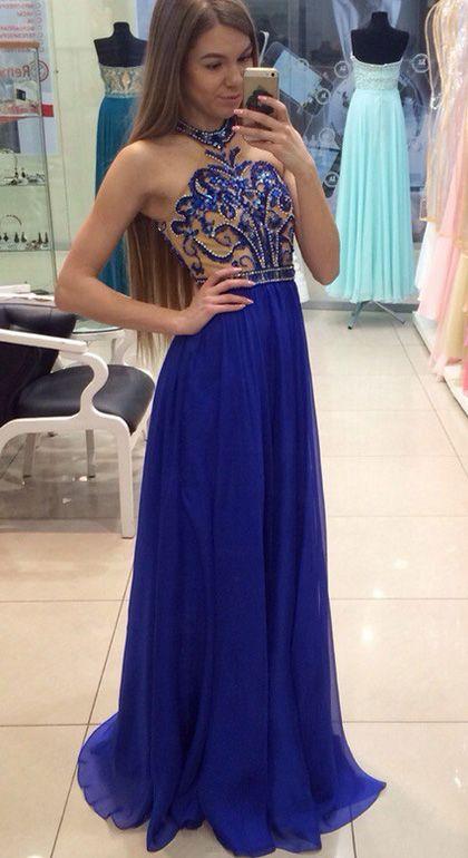 Floor Length Evening Dresses Royal Blue Floor Length Evening