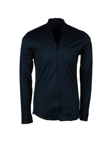 EMPORIO ARMANI Men's Shirt Dark blue 14 ½ inches-neck