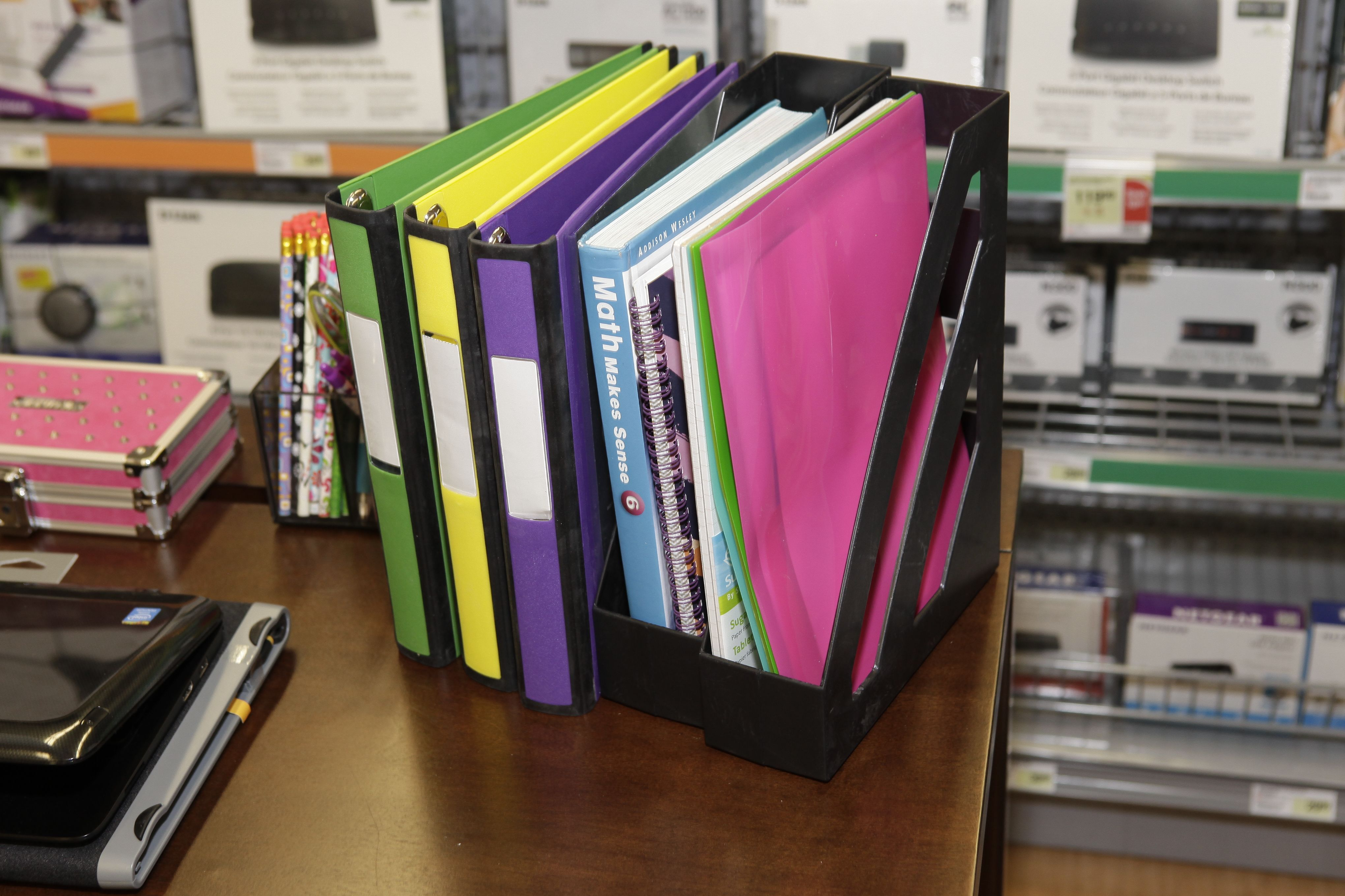 Desktop Organizers And Holders Help You Keep Things Neat And Make It Easy To Find What You Re Looking For Homework Organization Desktop Organization Organization