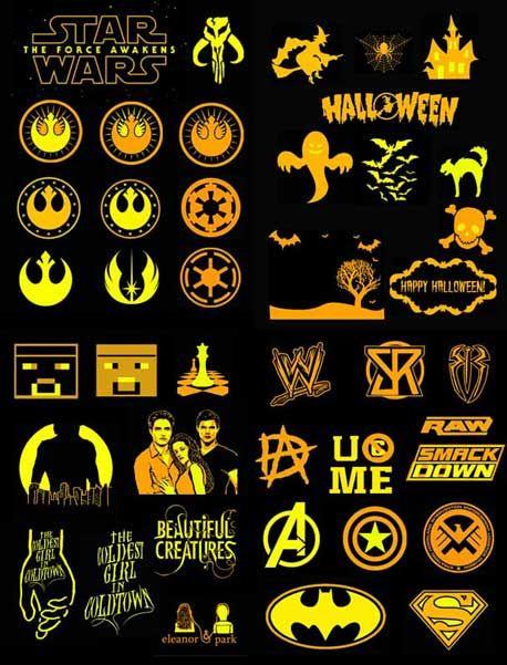 40 Free Pumpkin Carving Stencils Star Wars Avengers Superman Batman Halloween WWE And More CarveAwesomePumpkins Pumpkins