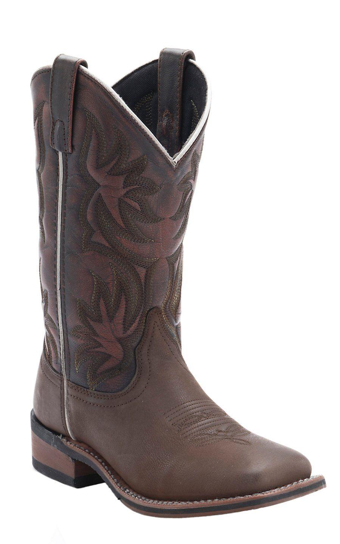 Laredo Women S Dark Brown With Sanded Red Top Cowboy