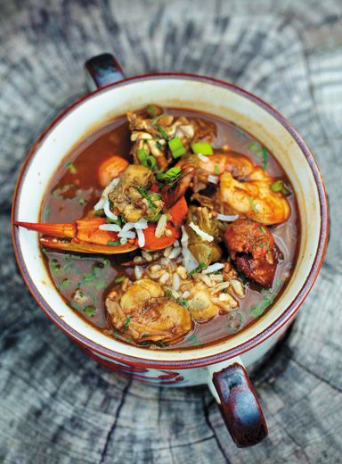 Gumbo. Can't get enough of the gumbo with a glass of Betty Fae. Read the article and get the recipe of this particular gumbo at this link: http://www.smithsonianmag.com/arts-culture/Best-Gumbo-Ever.html.