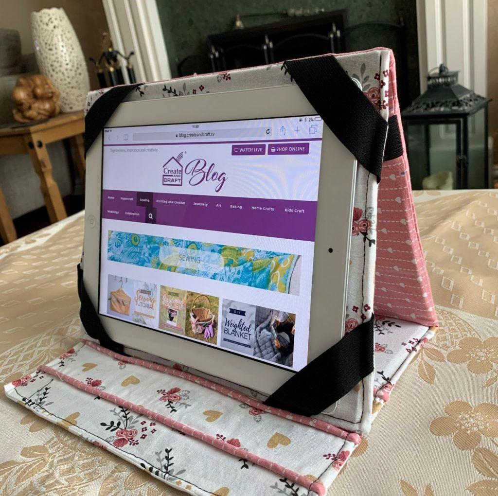 Diy tablet stand stepbystep sewing tutorial create