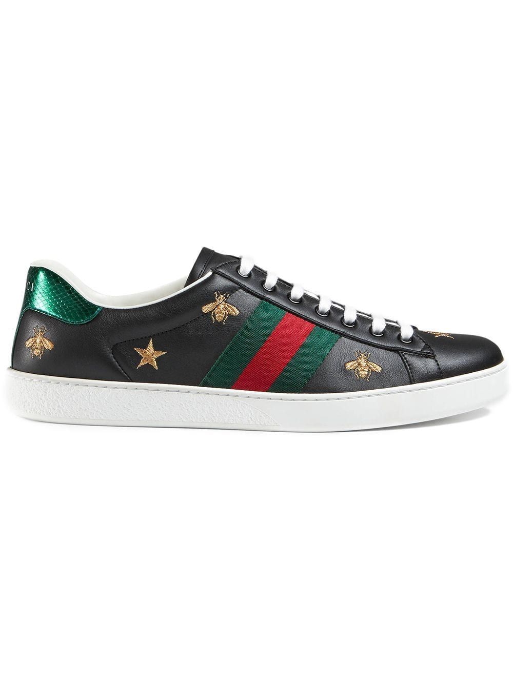 190fe52198579 GUCCI GUCCI ACE EMBROIDERED SNEAKER - BLACK.  gucci  shoes