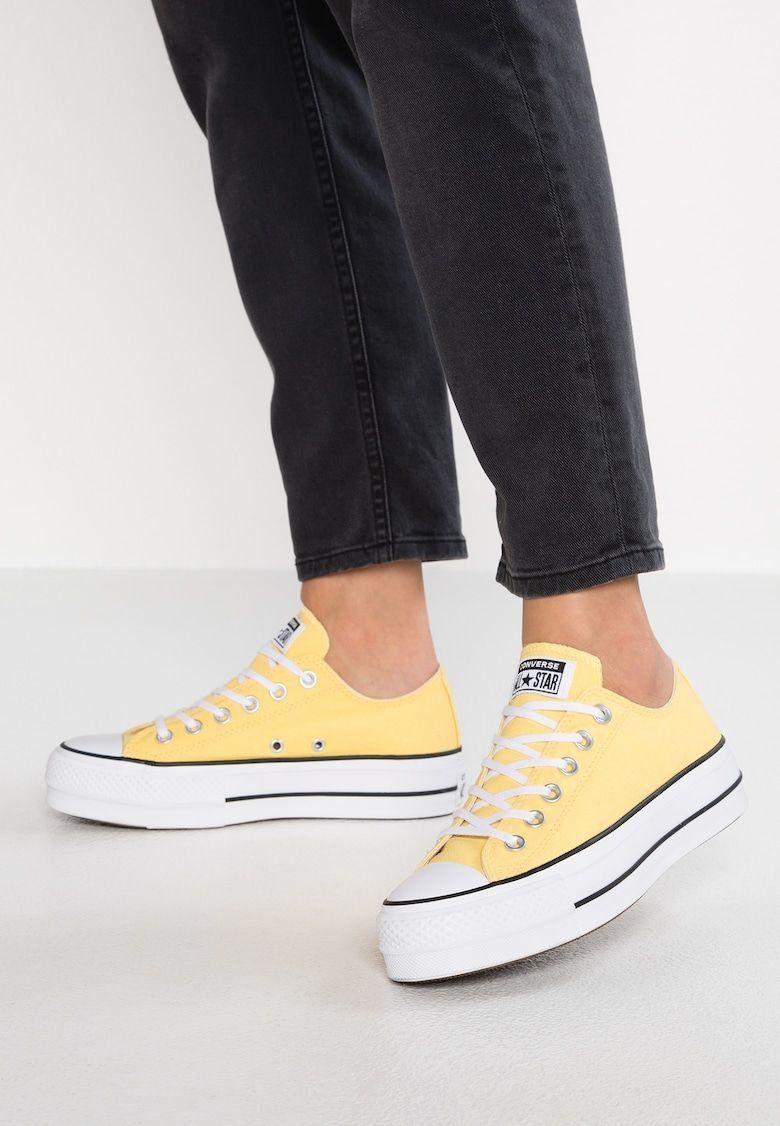 CHUCK PLATFORM - Sneaker low - butter yellow/black/white ...