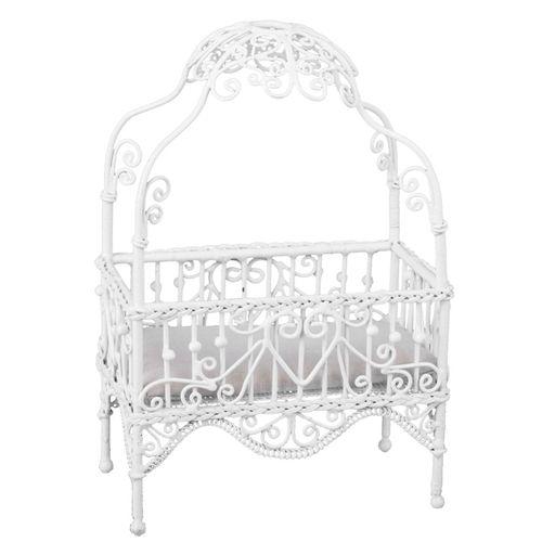 White Wire Canopy Crib (com imagens)