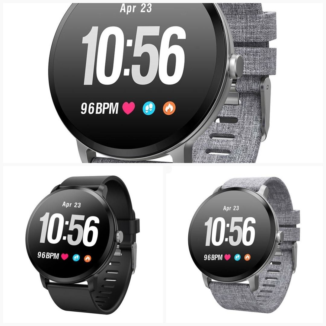 Colmi V11 Smart Watch Ip67 Waterproof Tempered Glass Activity Fitness Tracker Heart Rate Monitor Brim Men Women Fitness Tracker Smart Watch Heart Rate Monitor