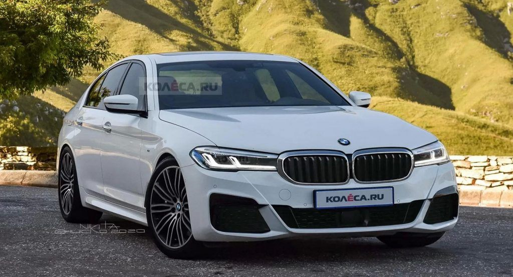 2021 Bmw 5 Series Drops Camo Digitally Shows Updated Face
