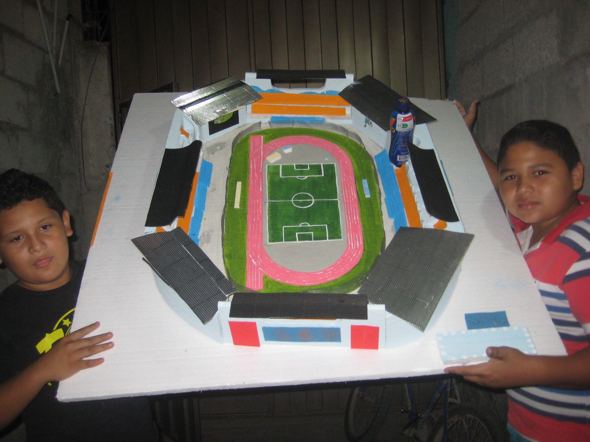 Estadio Olimpico En Maqueta De Espumaflex Maquetas Estadio De Futbol Estadios