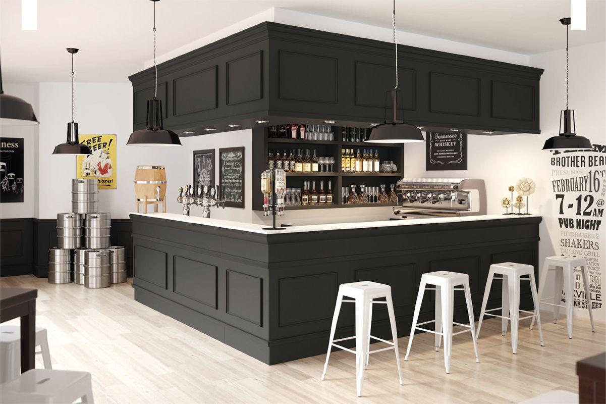 comptoir bar professionnel | Comptoir de bar TRINIDAD Nero Britannia ...