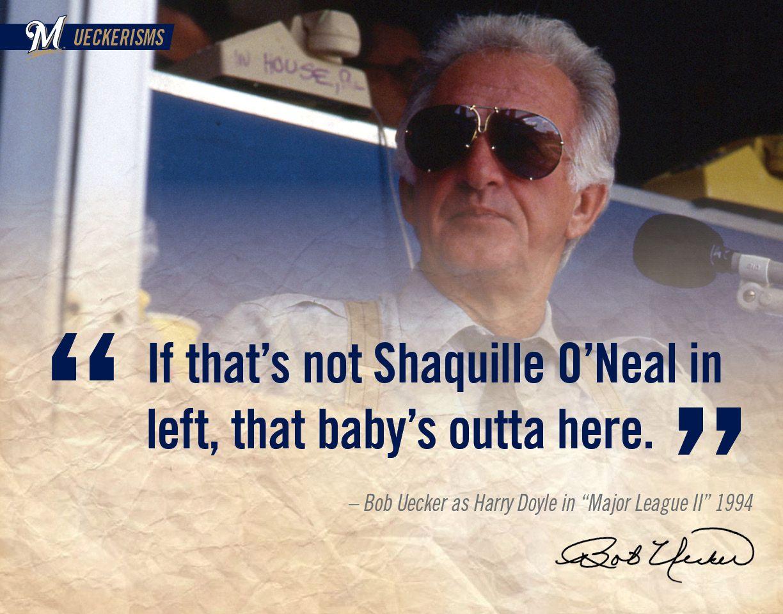 UECKER Bob uecker, Major league movie quotes