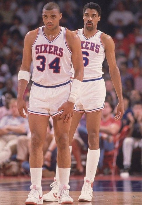 552722bc851 Charles Barkley   Julius Erving....old school players...not spoiled ...