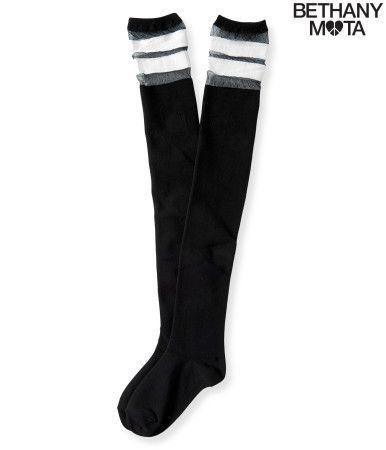 Mesh Stripe Over-The-Knee Socks - Aeropostale