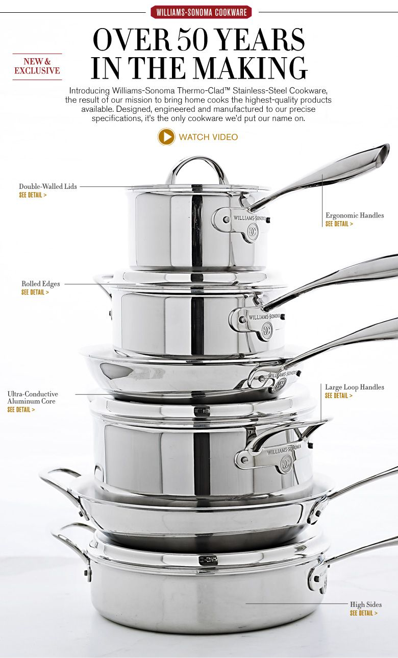 Best Stainless Steel Cookware Pots And Pan Sets Williams