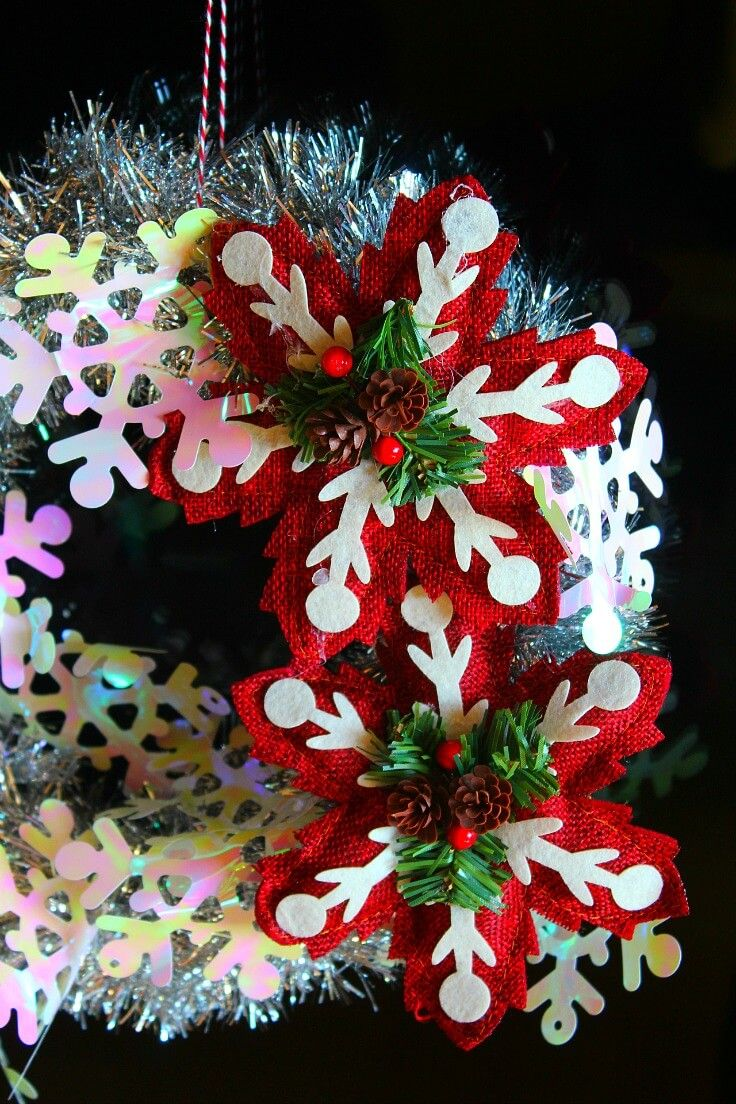 DIY TINSEL GARLAND Get into the Christmas spirit with