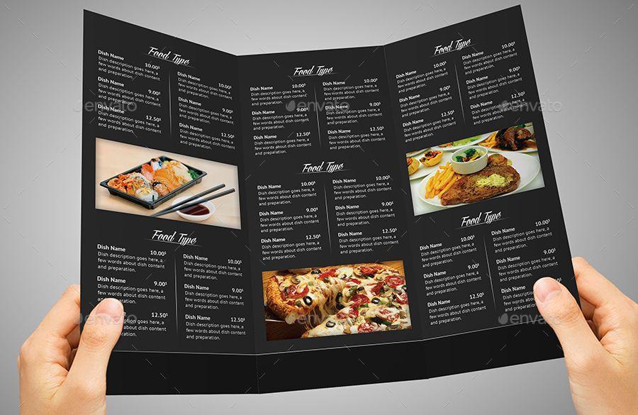 Tri Fold Restaurant Menu Business Card Menu Restaurant Menu