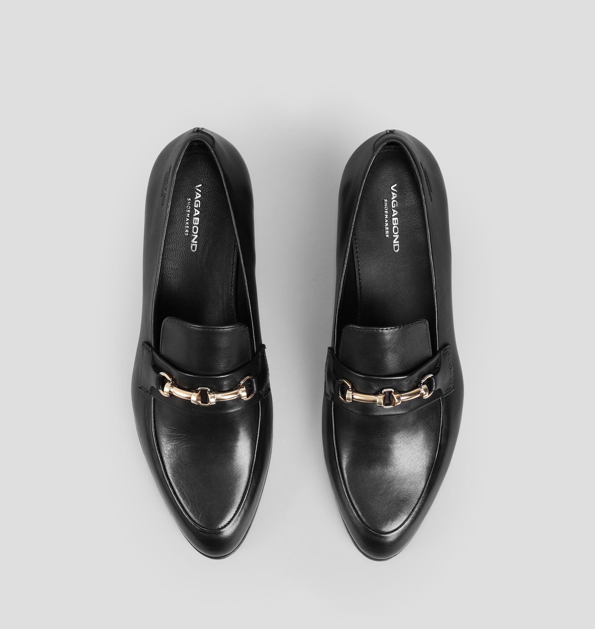 Frances Black Leather Shoes Black Leather Loafers