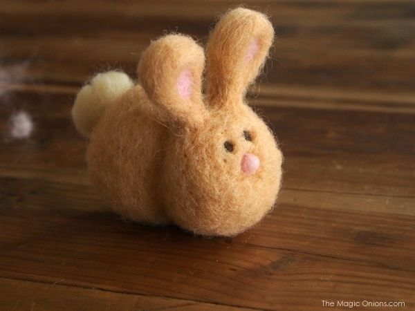 DIY Needle Felted Bunny Tutorial #needlefeltedbunny