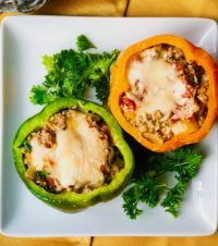 Zero-Point Turkey-Stuffed Bell Peppers #bellpeppers
