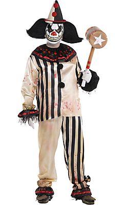 Mens Evil Killer Clown Top T Shirt Halloween Bloody Circus Freak Fancy Costume