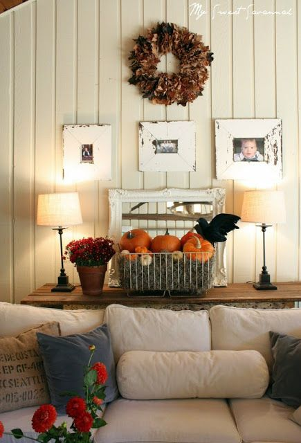 Painted Paneling Living Room: Off White. Beach Cool Casual