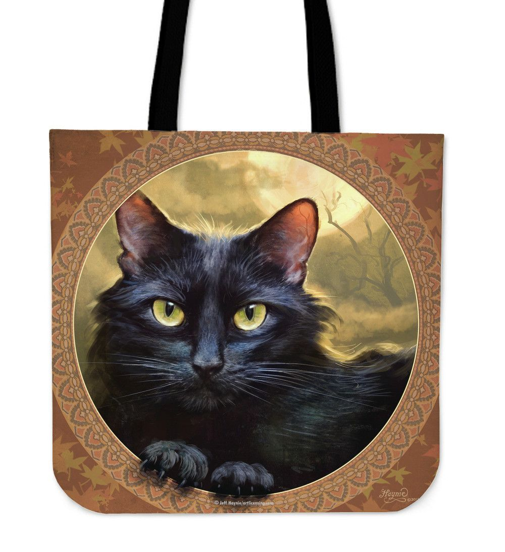 Purrfect totes color cat black cats and cat lovers