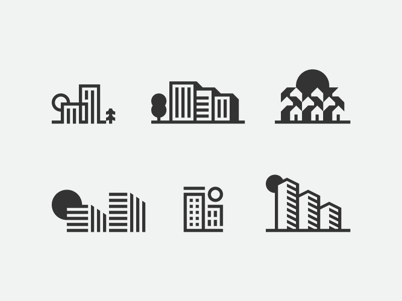 Icon Design Inspiration Week 2 Icon Design Inspiration Real Estate Logo Design Icon Design