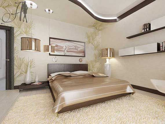 Brown And Cream Bedroom Design For Master Bed Lovely Ceiling - Brown and cream bedroom designs