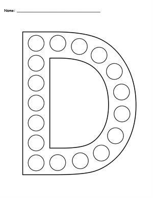 free letter l do a dot printables uppercase lowercase grafomotorika lettering letter d. Black Bedroom Furniture Sets. Home Design Ideas