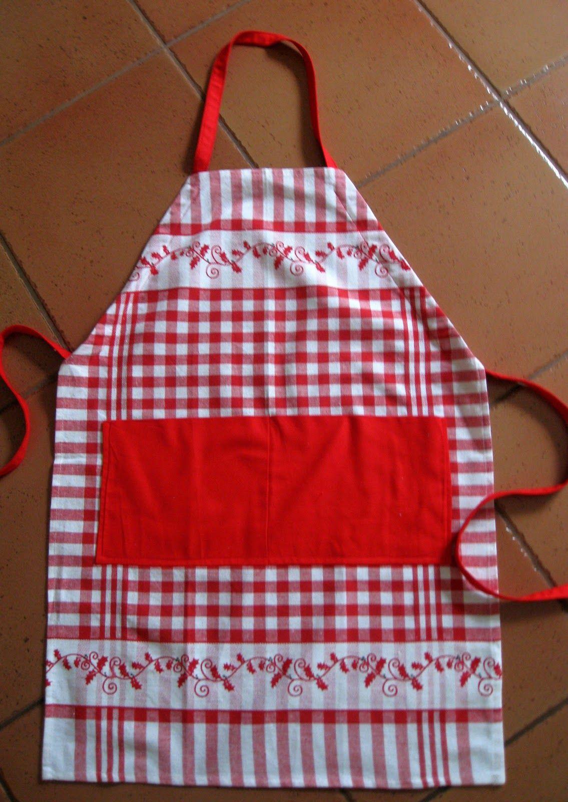 White tea apron - Vicki S Fabric Creations Tea Towel Aprons