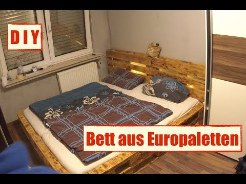 möbel aus europaletten - paletten bett mit led beleuchtung - diy, Badezimmer
