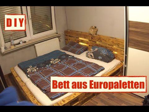 m bel aus europaletten paletten bett mit led beleuchtung diy furniture furniture made. Black Bedroom Furniture Sets. Home Design Ideas