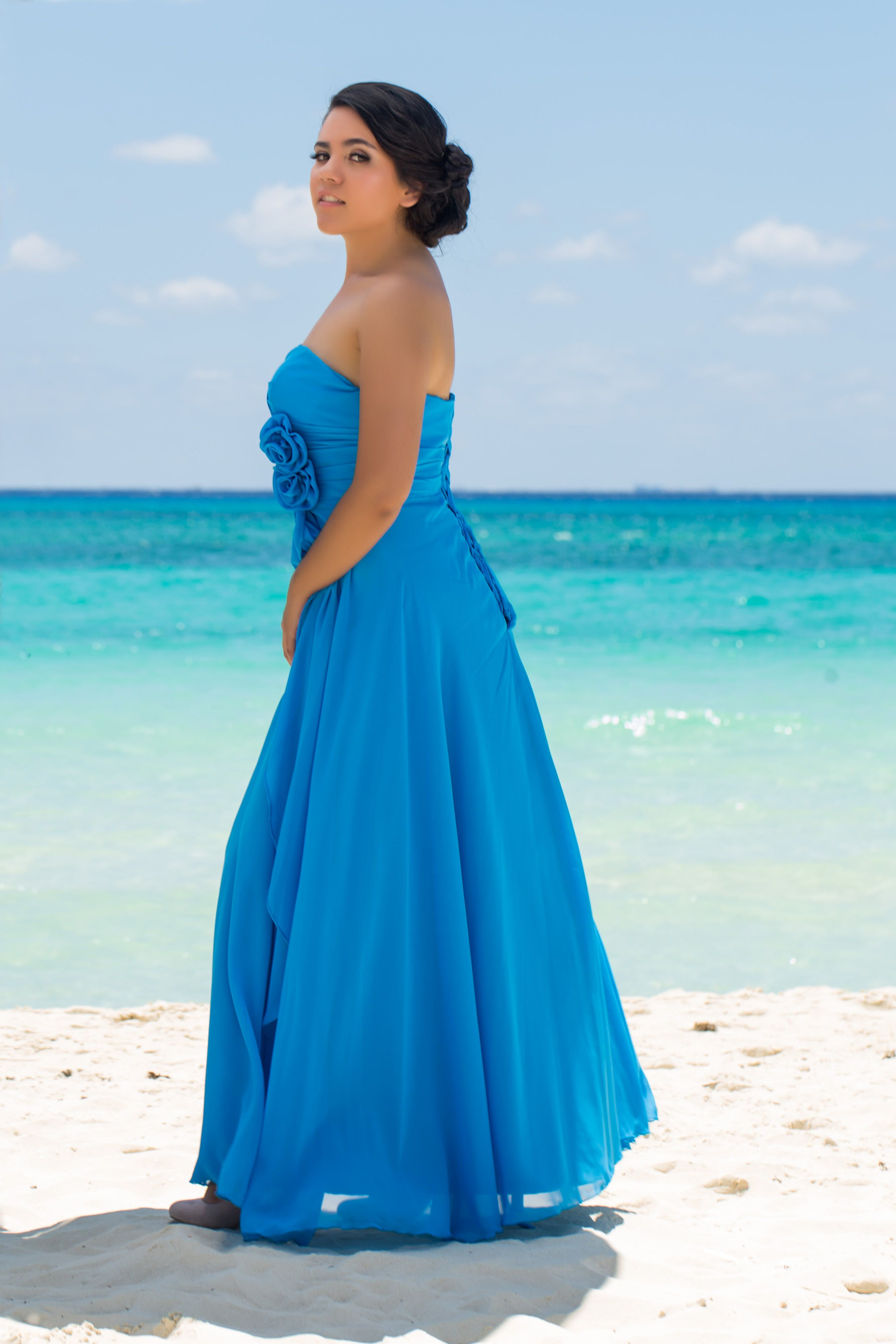 Rent your dress bridesmaid blue long dress perfect for your
