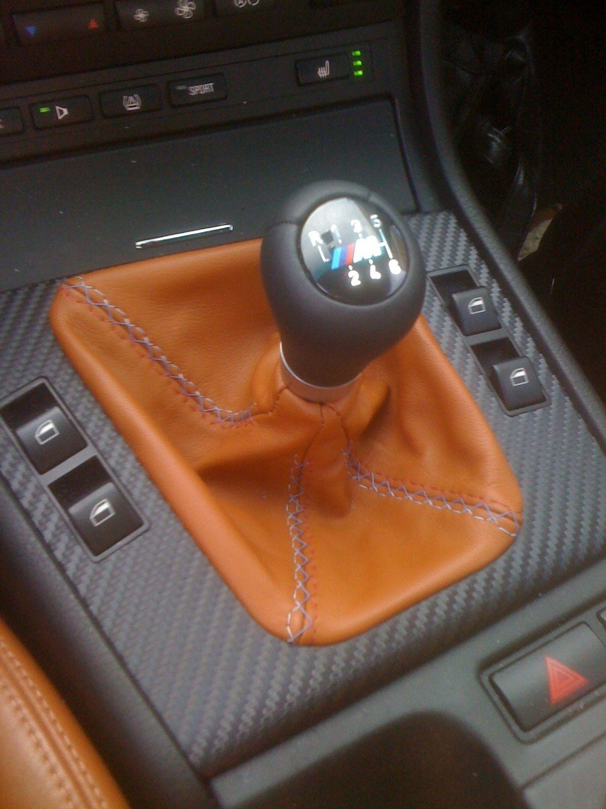 My E46 M3 Custom Leatherz Shift Boot Cinnamon Napa Leather With