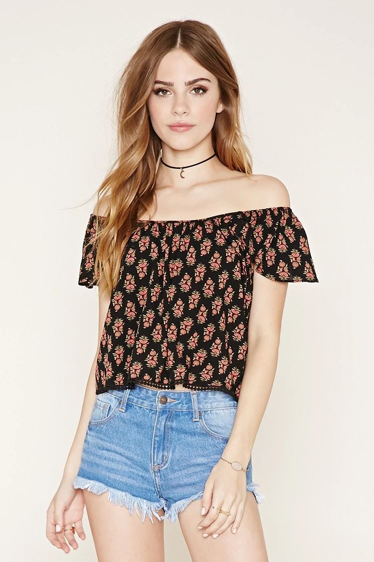 0482ced1d6bb3 Floral Off-the-Shoulder Top  f21xmusic