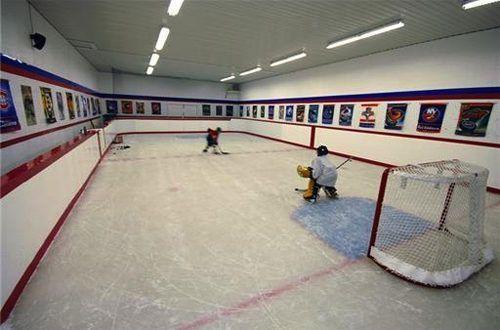 Home Indoor Ice Rink Hockey Room Ice Rink Ice Hockey Rink