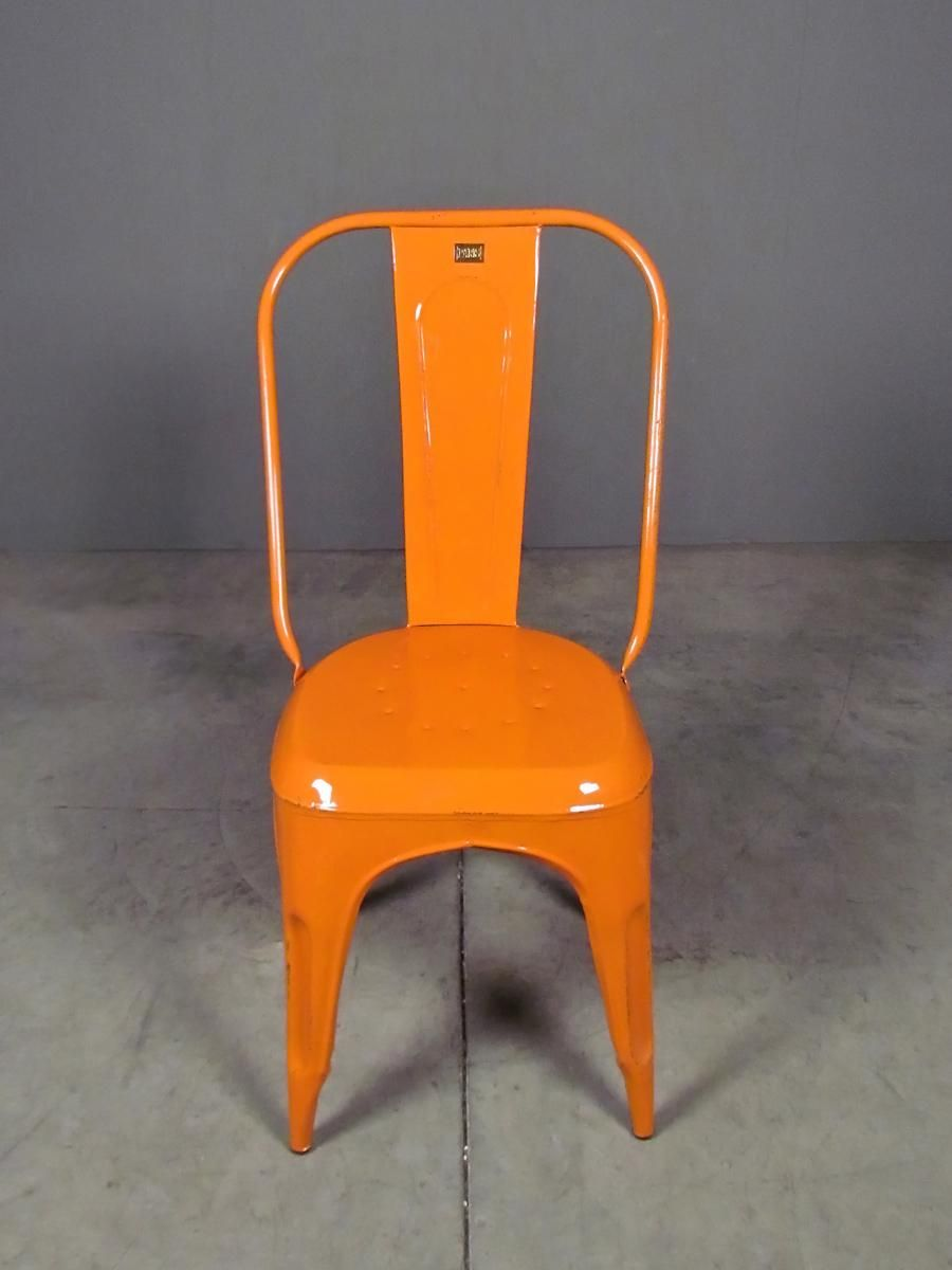 Cafe chair in orange -- from redinfred