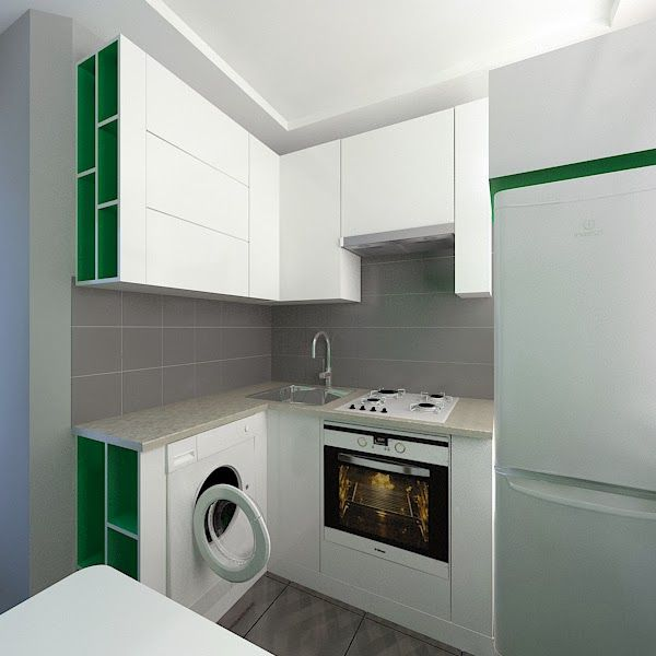 Красивый дизайн кухни в хрущевке: Дизайн интерьера и ремонт квартир: Дизайн маленькой кухни