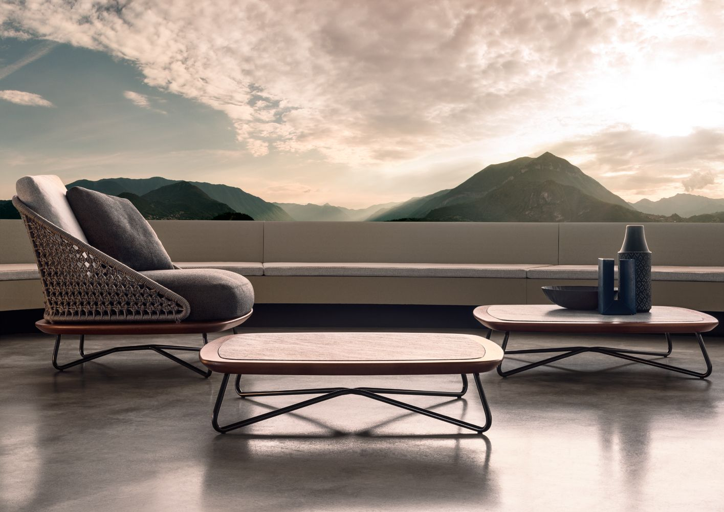 Bitta modern patio furniture by rodolfo dordoni - Modern