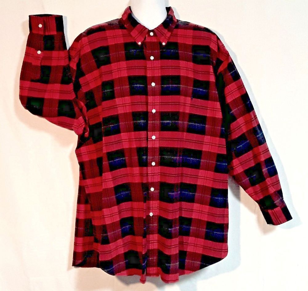 29ed1e289 Ralph Lauren Mens 3XB long sleeve Red Black Plaid Big Shirt Lumber Jack  Flannel  LaurenRalphLauren  ButtonFront  PNW  lumberjack  logger  bigman   XXXbig ...