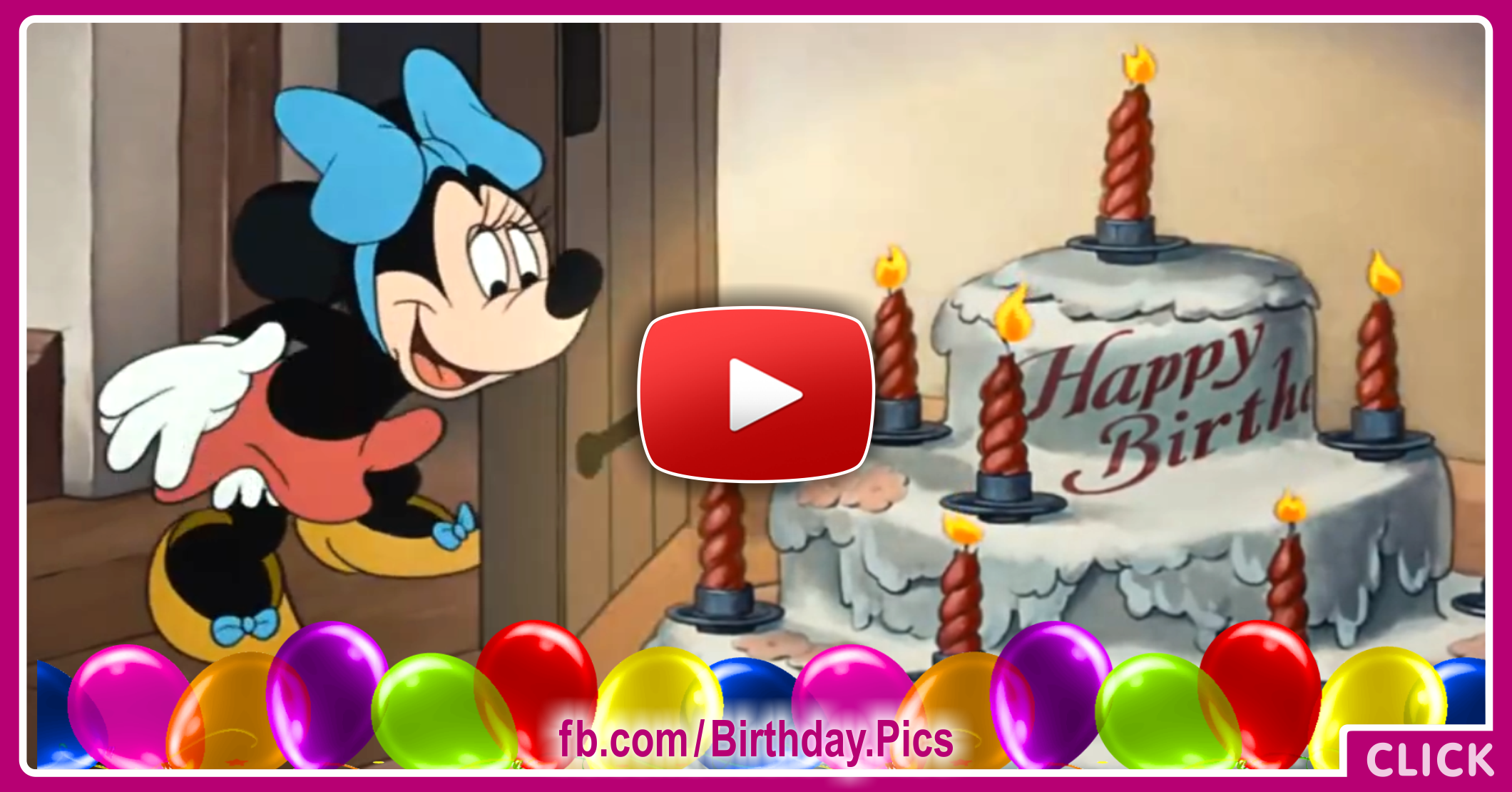 Mickey Mouse Happy Birthday Video Card 1 – Video Birthday Cards
