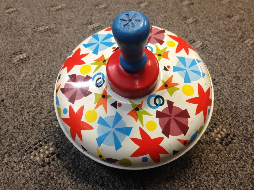 Vintage Ohio Art Tin Spinning Top Child's toy Almost Everone had one growing up! #OhioArt