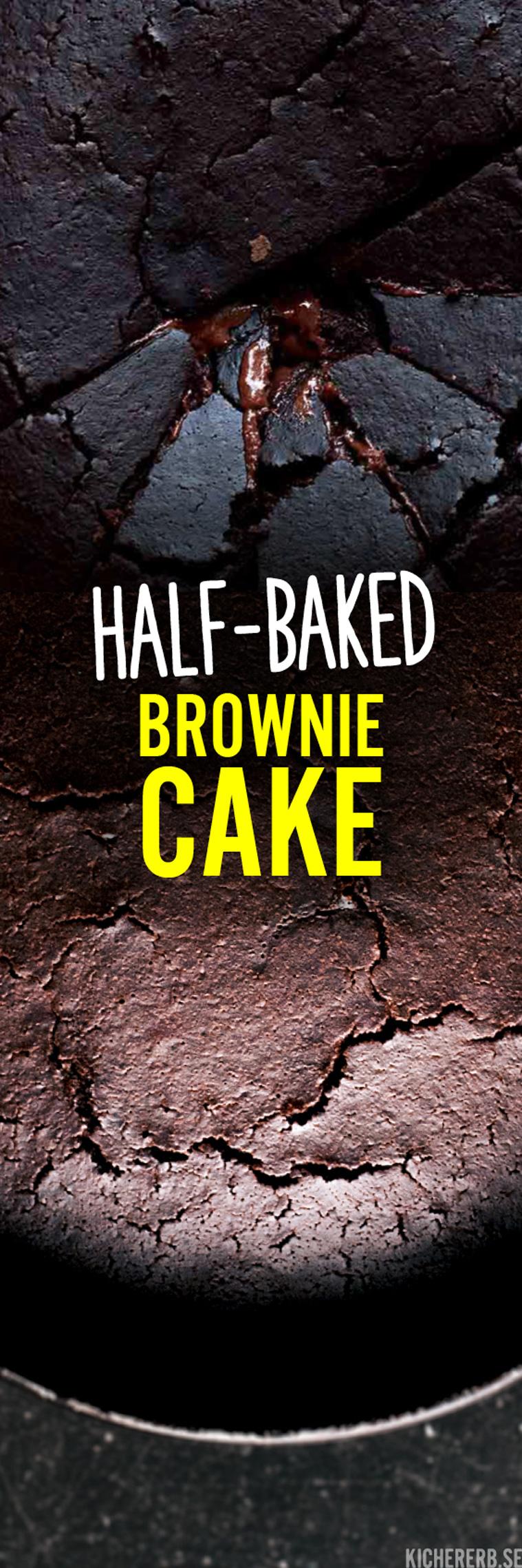"""Super schokoladig """"fudgy"""" in der Mitte: Dieser Brownie-Kuchen ist nicht nur vegan, sondern fett- und zuckerreduziert und oberlecker noch dazu!"""