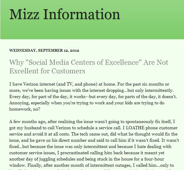 """Why """"Social Media Centers of Excellence"""" Are Not Excellent for Customers"""