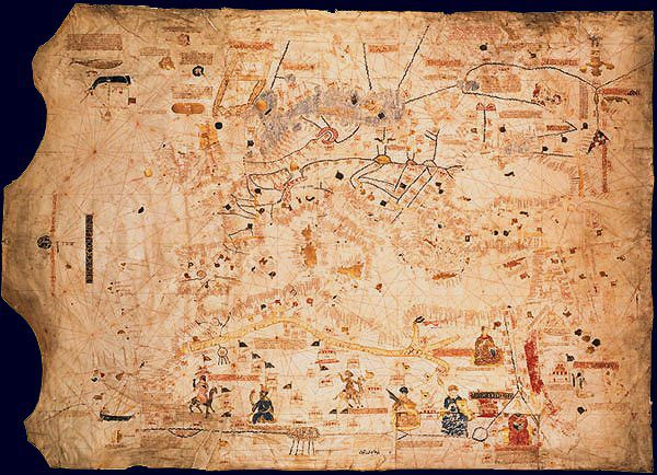 Mapas de la Edad Media - LunaBruna BF - Álbumes web de Picasa. Maciá de Viladestes, 1413.
